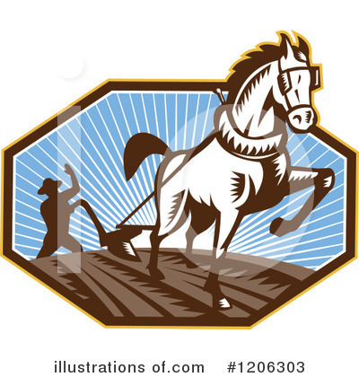 Horse And Plow Clip Art