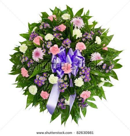 Funeral flowers clip art