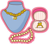 Necklace Gold Pearl Ring Shopping U13931616   Search Clipart