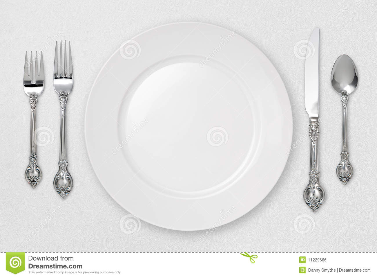 Place Setting Clipart White Place Setting  With