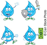 Running Water Vector Clip Art Eps Images  469 Running Water Clipart