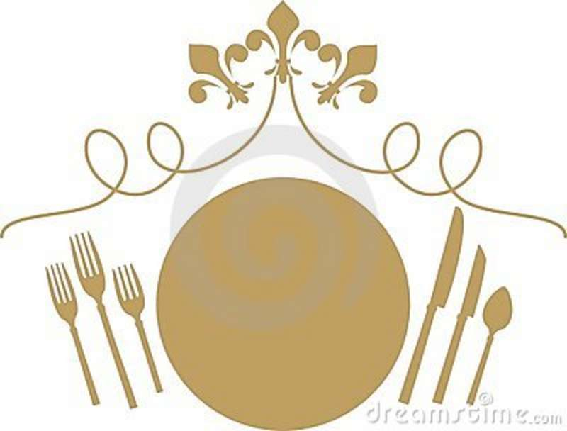 Table Setting With Food Clipart