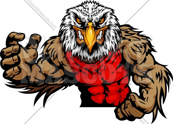 Wrestling Eagle Wrestler In Wrestling Pose Cartoon Vector Image