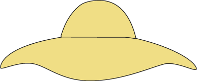 Yellow Sun Hat Clip Art   Womens Floppy Yellow Sun Hat  This Is A