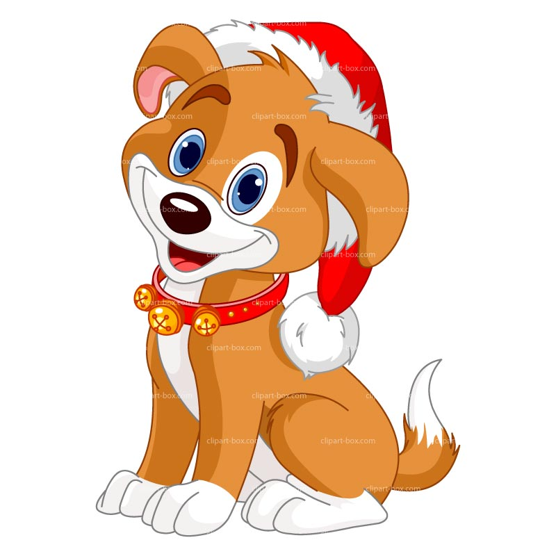 Dog with Hat Clip Art
