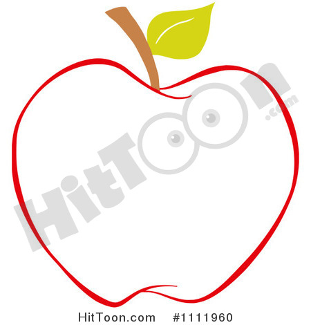 Apple Outline Clip Art 1111960 Clipart Red Apple Outline 2 Royalty