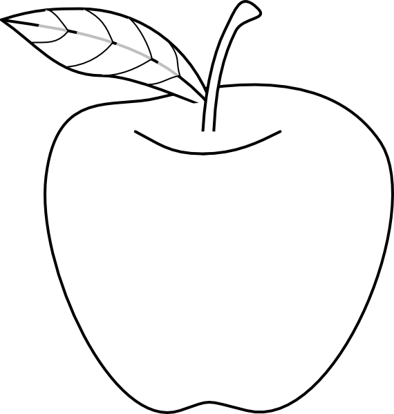 Apple Outline Clip Art At Clker Com   Vector Clip Art Online Royalty
