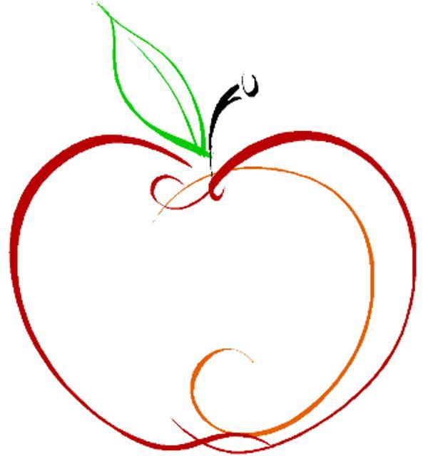 Apple Outline Clip Art   Cliparts Co