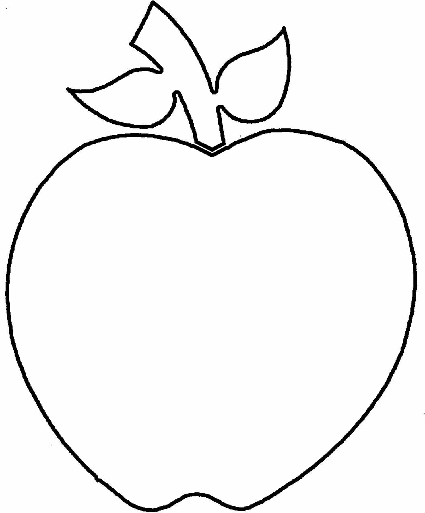 Apple Outline   Clipart Best