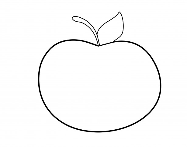 Apple Outline Clipart By Karen Arnold