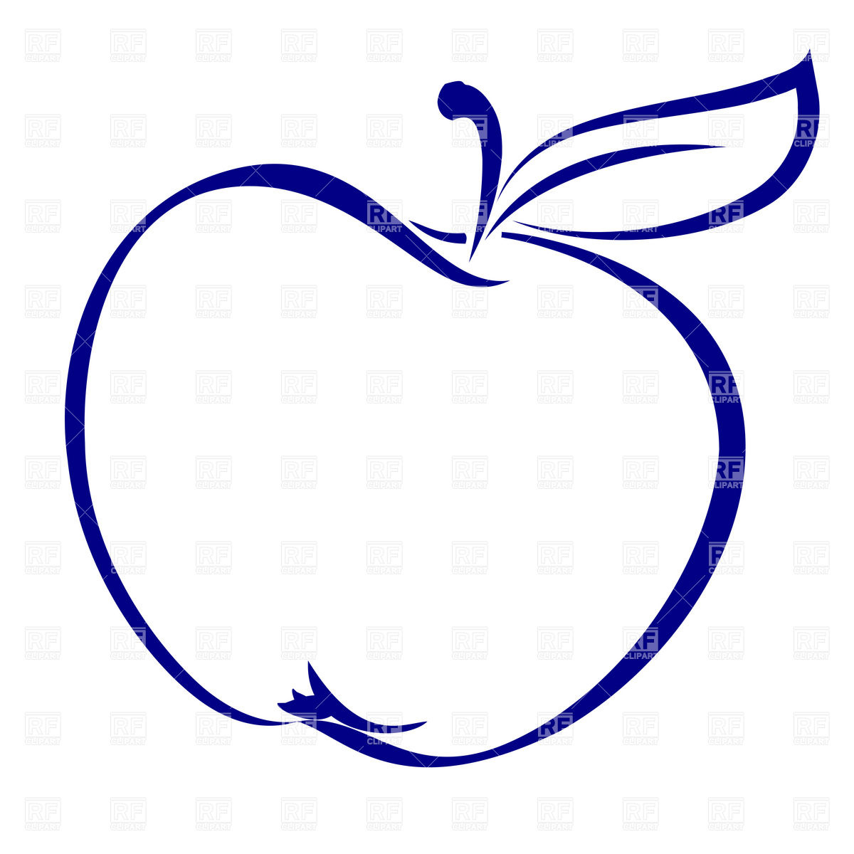 Apple Shape Simple Outline 7942 Silhouettes Outlines Download