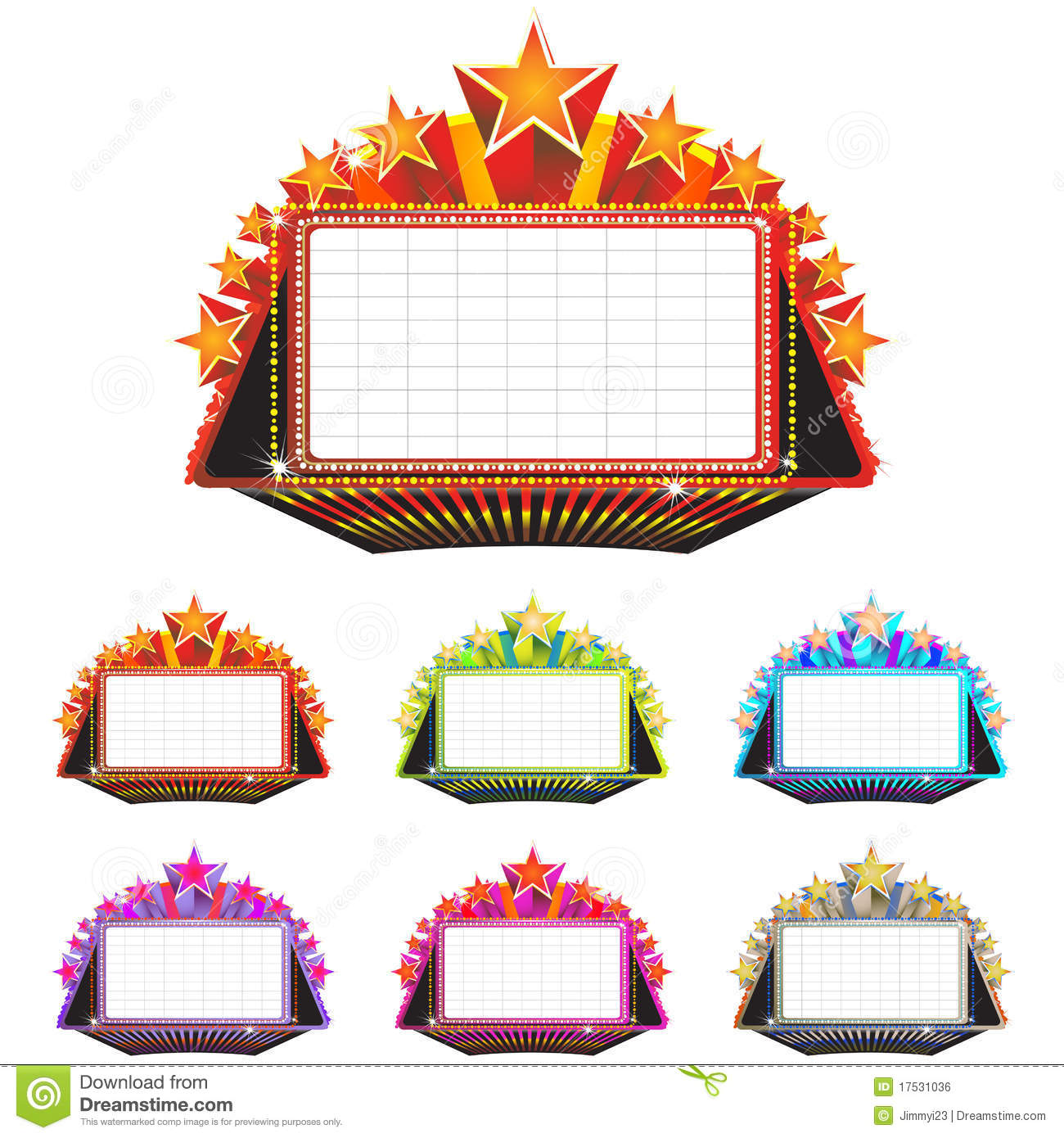 Blank Movie Marquee Clipart Images   Pictures   Becuo