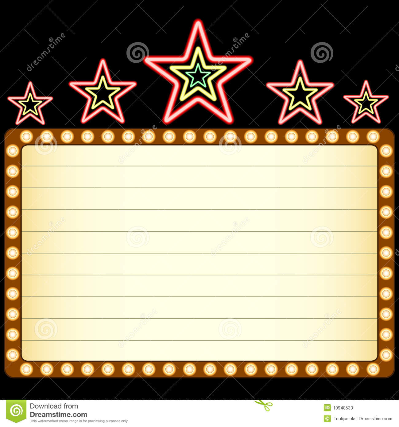Clip Art Marquee Clipart movie marquee clipart kid blank theater or casino with neon stars above isolated