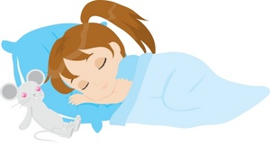 Child Clipart Image   Young Girl Sleeping