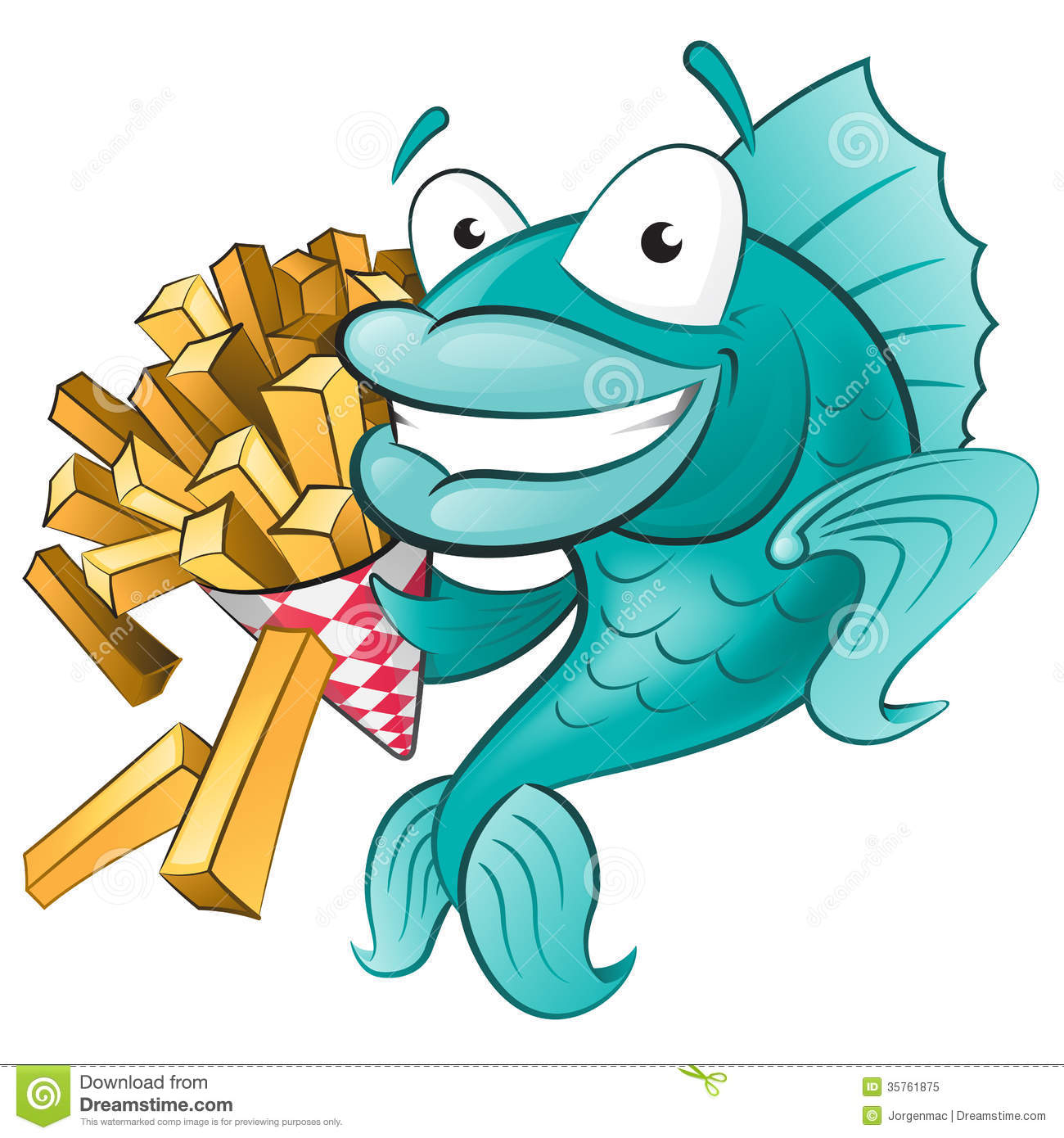 Chips And Salsa Clipart Cute Fish With Chips
