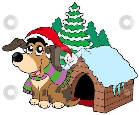 Christmas Dog Clipart   Quotes Lol Rofl Com