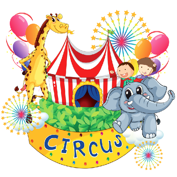 Circus Animal Cartoon Groups Clipart