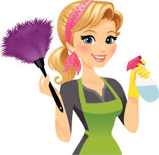 Cleaning Lady  Free Clip Art