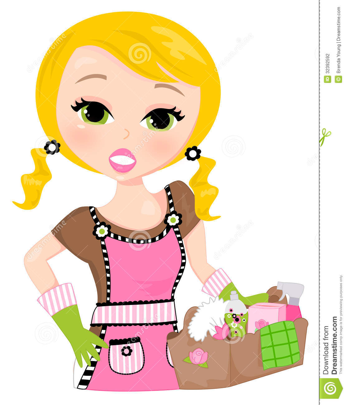 Cartoon Cleaning Lady Clipart - Clipart Kid