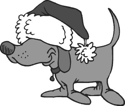Dog In Santa Hat   Http   Www Wpclipart Com Animals Dogs Cartoon Dogs