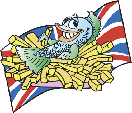 fish and chips clipart - photo #10