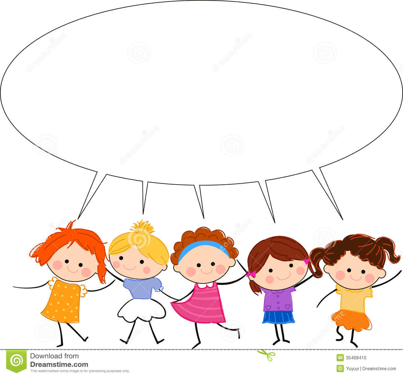 Group Of Kids Talking Clipart   Clipart Panda   Free Clipart Images