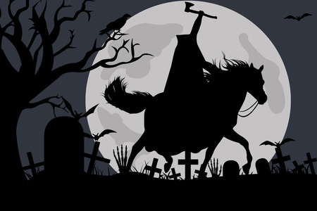 Illustration Of A Headless Horseman Stock Vector Clipart Illustration