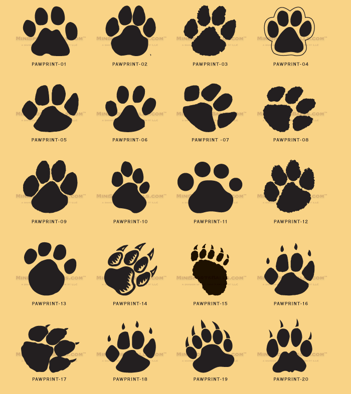 Kids And Everybody  Paw Print Clip Art Can Be Used For Cat Paw Prints