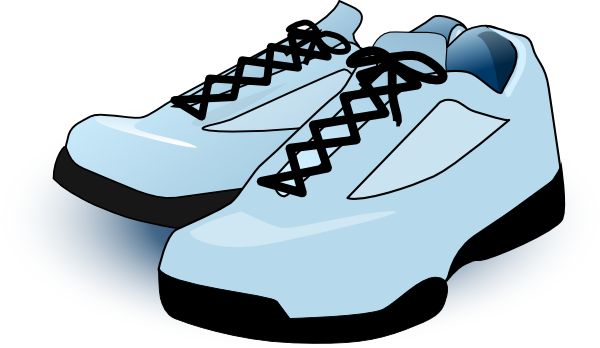 Kids Walking Shoes Clipart