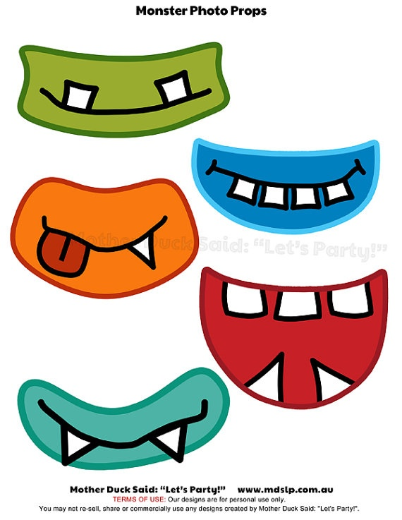 Monster Mouths Printable Photo Props For Photo By Motherducksaid  3