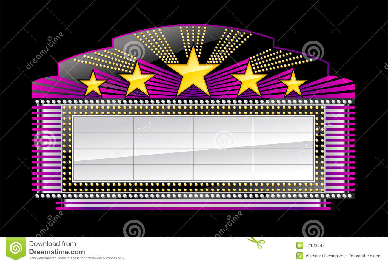... Marquee Clipart Black And White broadway marquee clipart - clipart kid