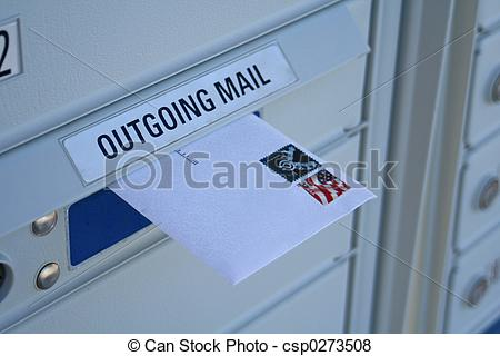 Pictures Of Outgoing Mail 1   Outgoing Mail With Stamp Csp0273508