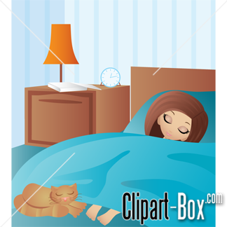 Related Sleeping Girl With Cat Cliparts