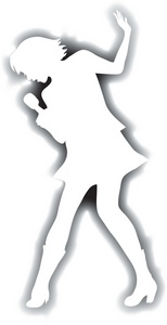 Singer Clipart Image   The Silhouette Of A Female Singer