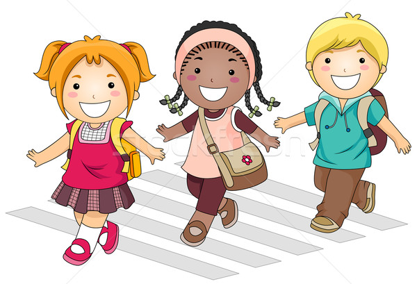 Stock Photo   Stock Vector Illustration   A Small Group Of Kids