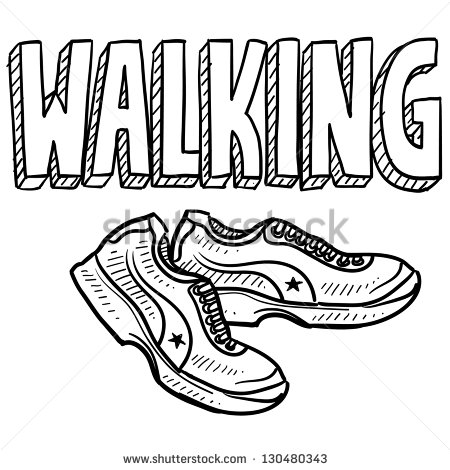 Style Walking Sports Illustration  Includes Text And Tennis Shoes