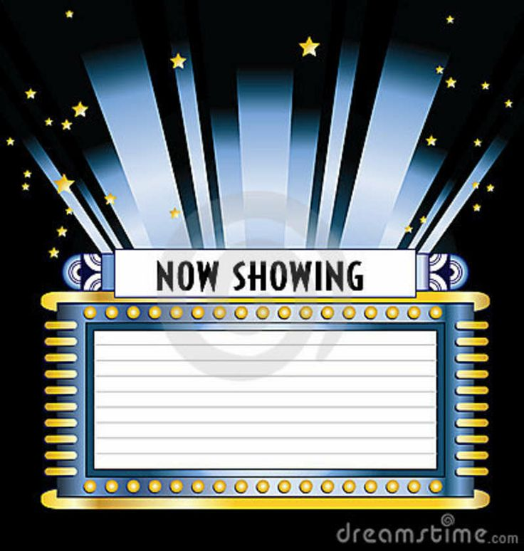 Theater Marquee Clip Art   Art Deco Style Broadway Movie Marquee With
