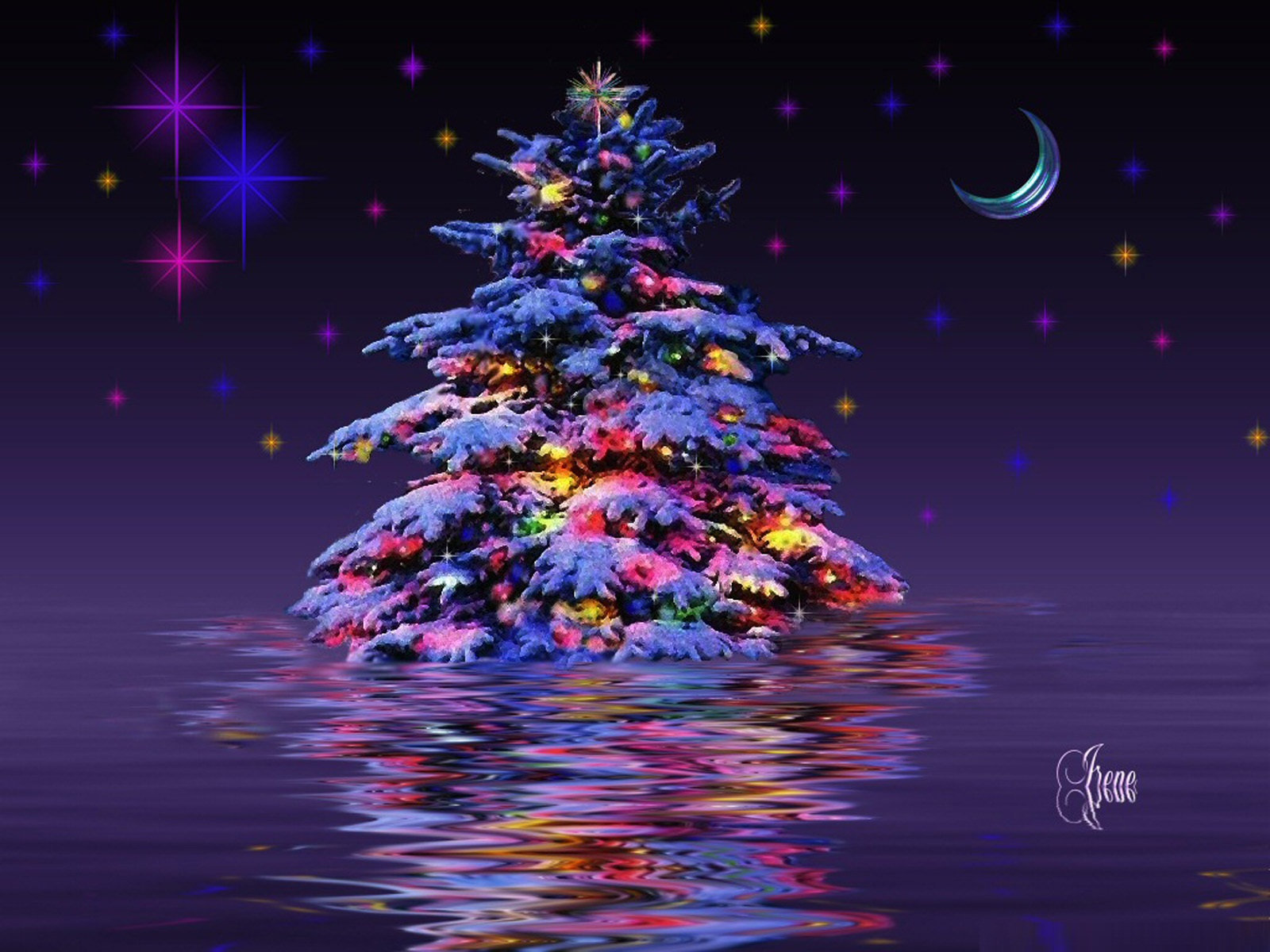 3d Christmas Tree Wallpapers