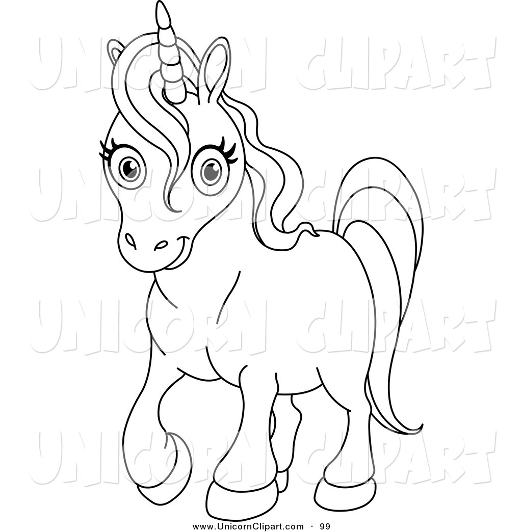 unicorn images coloring pages - unicorn black and white clipart clipart suggest
