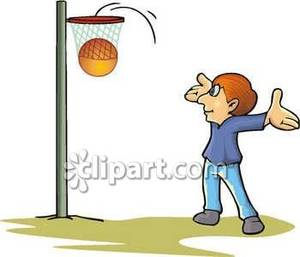 Boy Playing Basketball Royalty Free Clipart Picture