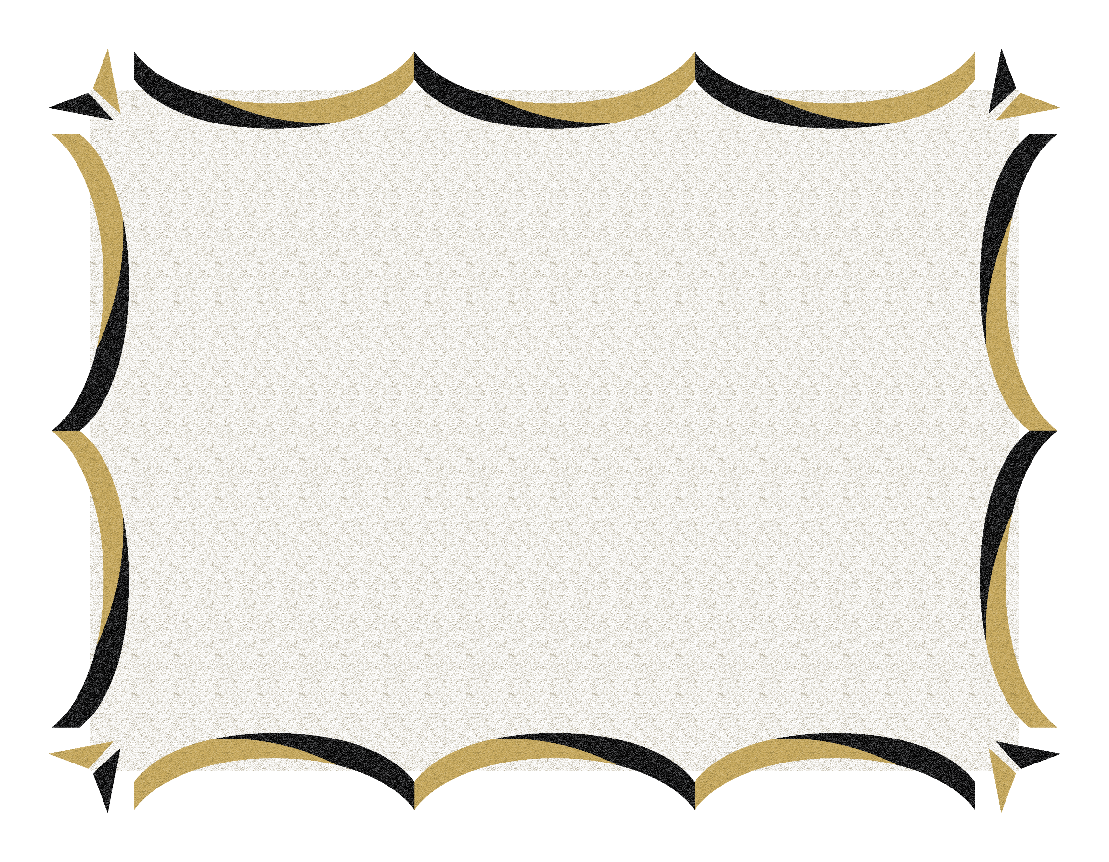 Certificate Border 3 Black And Gold Png Png