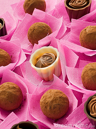 Chocolate Truffles And Pralines For Valentine S Day  Shallow Dof