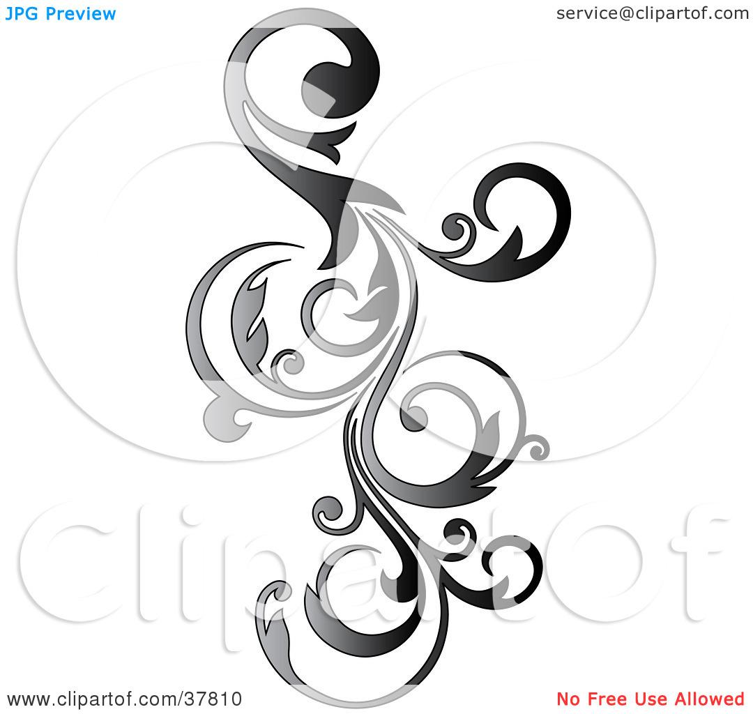 Vine Scroll Clipart - Clipart Kid  Vertical Scrolls Clipart