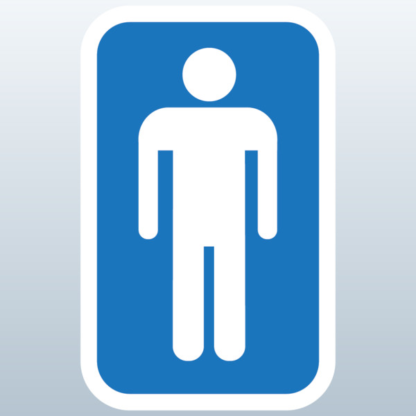 Restroom sign clipart clipart suggest for Male female bathroom sign images