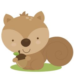 Cute Squirrel Svg Cut File For Scrapbooking Woodland Animals Clipart