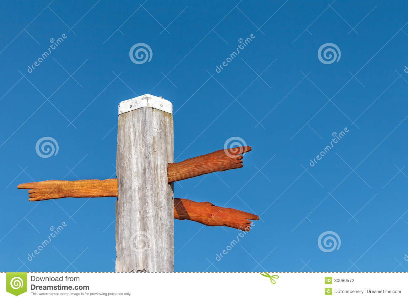 Direction Signs On A Beach Pole Stock Photography   Image  30080572
