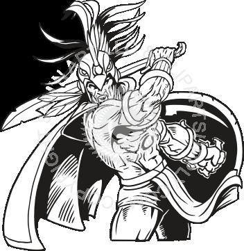 Aztec Warrior Cliparts