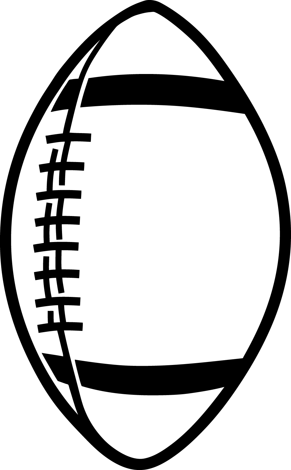 Football helmet black and white clipart