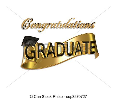 Gold And Black Digital Art With 3d Gold Text Congratulations Graduate