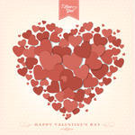 Happy Valentine S Day Background With Hearts 127484813 Jpg